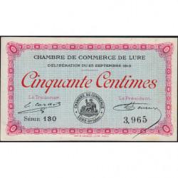 Lure - Pirot 76-1 - 50 centimes - Série 130 - 25/09/1915 - Etat : SPL