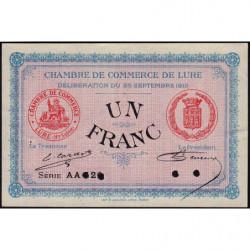 Lure - Pirot 76-10 - 1 franc - Série AA 126 - 25/09/1915 - Annulé - Etat : SUP+