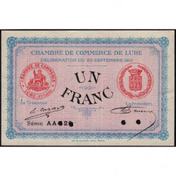 Lure - Pirot 76-10 - Série AA 126 - 1 franc - 1915 - Annulé - Etat : SUP+