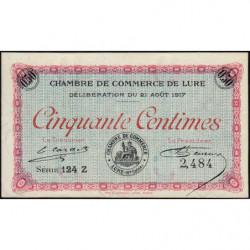 Lure - Pirot 76-18 - 50 centimes - Série 124 Z - 21/08/1917 - Etat : SUP+