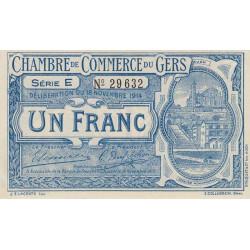 Auch (Gers) - Pirot 15-3 - Série E - 1 franc - 1914 - Etat : SPL