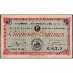 Lure - Pirot 76-36 - 50 centimes - Série U 47 - 23/12/1920 - Etat : TB