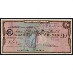 Grande-Bretagne - Australie - Chèque Voyage - National Provincial - 10 pounds - 1964 - Etat : TTB+