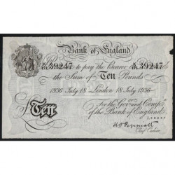 Grande-Bretagne - Pick 312af - 10 pounds - 18/07/1936 - Faux de l'Opération Berhnard - Etat : TTB+