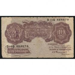 Grande-Bretagne - Pick 366 - 10 shillings - 1940 - Etat : B+