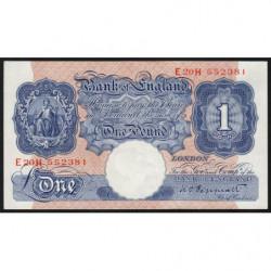 Grande-Bretagne - Pick 367a - 1 pound - 1940 - Etat : SPL+