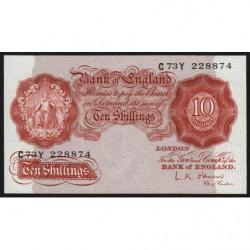 Grande-Bretagne - Pick 368c - 10 shillings - 1955 - Etat : SPL