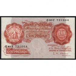 Grande-Bretagne - Pick 368c - 10 shillings - 1955 - Etat : TB+