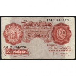 Grande-Bretagne - Pick 368c - 10 shillings - 1955 - Etat : TB-