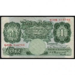 Grande-Bretagne - Pick 369a - 1 pound - 1948 - Etat : TB+