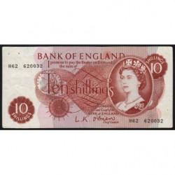 Grande-Bretagne - Pick 373a - 10 shillings - 1961 - Etat : TTB-