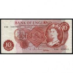 Grande-Bretagne - Pick 373b1 - 10 shillings - 1963 - Etat : TB+