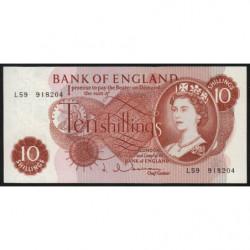 Grande-Bretagne - Pick 373b1 - 10 shillings - 1963 - Etat : NEUF
