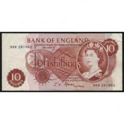 Grande-Bretagne - Pick 373c1 - 10 shillings - 1967 - Etat : TB+