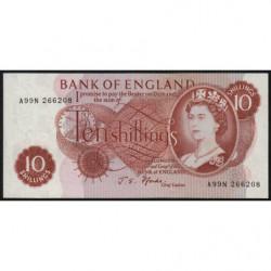 Grande-Bretagne - Pick 373c2 - 10 shillings - 1967 - Etat : NEUF