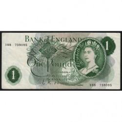 Grande-Bretagne - Pick 374a1 - 1 pound - 1960 - Etat : TTB