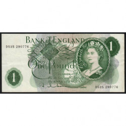 Grande-Bretagne - Pick 374c - 1 pound - 1963 - Etat : TTB+