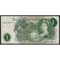 Grande-Bretagne - Pick 374e2 - 1 pound - 1967 - Etat : TB+