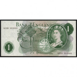 Grande-Bretagne - Pick 374e2 - 1 pound - 1967 - Etat : TTB