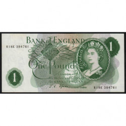 Grande-Bretagne - Pick 374e2 - 1 pound - 1967 - Etat : NEUF
