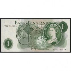 Grande-Bretagne - Pick 374g1 - 1 pound - 1971 - Numéro à voir - Etat : TTB