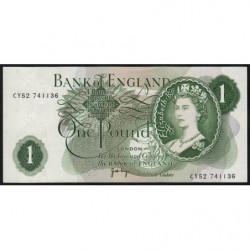 Grande-Bretagne - Pick 374g2 - 1 pound - 1971 - Etat : SUP