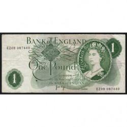 Grande-Bretagne - Pick 374g2 - 1 pound - 1971 - Etat : TB