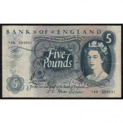 Grande-Bretagne - Pick 375b1 - 5 pounds - 1967 - Etat : TB-