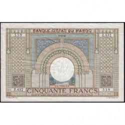 Maroc - Pick 21_2 - 50 francs - 09/11/1942 - Etat : TTB