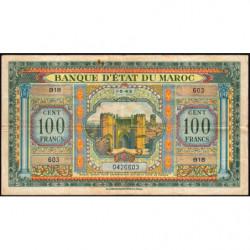 Maroc - Pick 27_1 - 100 francs - 01/05/1943 - Etat : TB+
