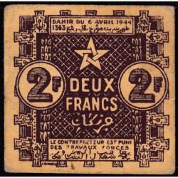 Maroc - Pick 43 - 2 francs - 06/04/1944 - Etat : TB+