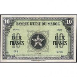 Maroc - Pick 25_3 - 10 francs - 01/03/1944 - Etat : TTB+
