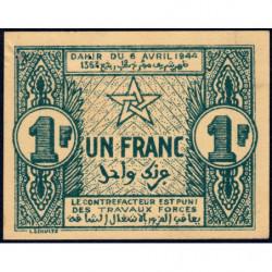 Maroc - Pick 42 - 1 franc - 06/04/1944 - Etat : SUP+