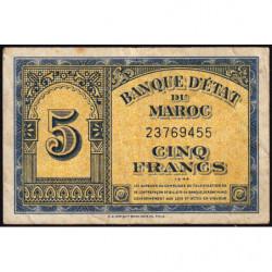 Maroc - Pick 24_2 - 5 francs - 01/03/1944 - Etat : TB