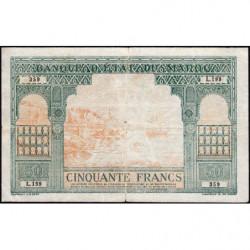 Maroc - Pick 40 - 50 francs - Série L199 - 1924 (1943) - Etat : TB+