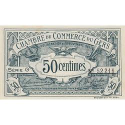 Auch (Gers) - Pirot 15-5 - 50 centimes - Série G - 18/11/1914 - Etat : SPL