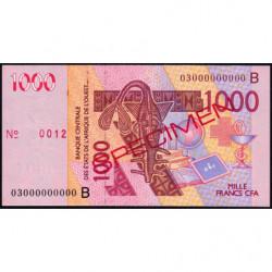 Bénin - Pick 215Ba spécimen - 1'000 francs - 2003 - Etat : SUP+