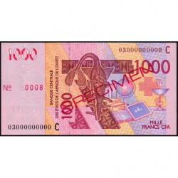 Burkina-Faso - Pick 315Ca spécimen - 1'000 francs - 2003 - Etat : SUP+