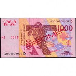 Mali - Pick 415Da spécimen - 1'000 francs - 2003 - Etat : SUP+