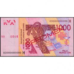 Niger - Pick 615Ha spécimen - 1'000 francs - 2003 - Etat : SUP+