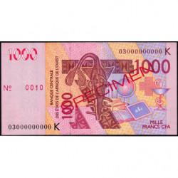 Sénégal - Pick 715Ka spécimen - 1'000 francs - 2003 - Etat : SUP+