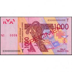 Togo - Pick 815Ta spécimen - 1'000 francs - 2003 - Etat : SUP+