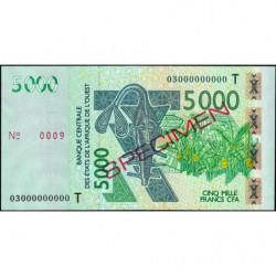 Togo - Pick 817Ta spécimen - 5'000 francs - 2003 - Etat : SUP+