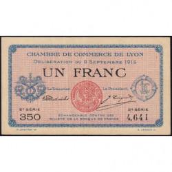 Lyon - Pirot 77-6 - 1 francs - 2ème série - 1915 - Etat : SUP