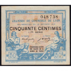 Lyon - Pirot 77-18 - 50 centimes - 11me série - 16/10/1919 - Etat : TTB