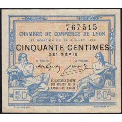 Lyon - Pirot 77-22 - 50 centimes - 23e série - 29/07/1920 - Etat : TTB