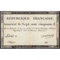 Assignat 49a - 750 francs - 18 nivôse an 3 - Etat : TTB