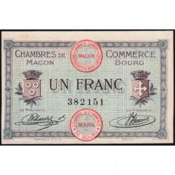 Macon et Bourg - Pirot 78-3 - 1 franc - Sans série - 01/09/1915 - Etat : SUP+