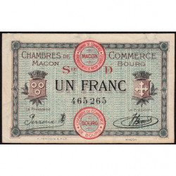 Macon et Bourg - Pirot 78-10 - 1 franc - Série D - 15/12/1917 - Etat : SUP