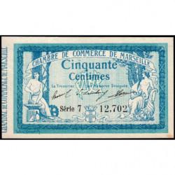 Marseille - Pirot 79-27 variété - Série 7 - 50 centimes - 1914 - Etat : SUP+